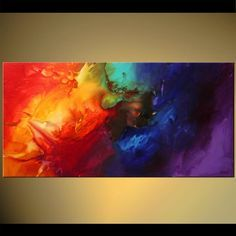 Original abstract art paintings by Osnat - bold colorful abstract painting