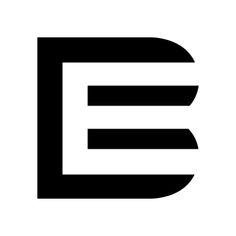 B E Logo Art/Design: Taber Calderon Typographic Logo, Letter Logo, Negative Space, Cool Logo, Sign Design, Art Logo, Letters, Type, Logos