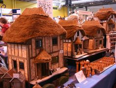 Lesley Shepherd's blog, Your Guide to Miniatures, has so many tips for making first class miniatures, which I love, like these thatched roofs! http://miniatures.about.com/od/miniature-building-parts/tp/Thatching-For-Scale-Models-And-Dolls-Houses.htm?nl=1