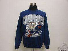 Vtg 90s CSA Dallas Cowboys Taz Crewneck Sweatshirt sz XL Extra Large Devil NFL Vintage by TCPKickz on Etsy