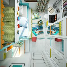 Home Designing — (via Super-Colorful Bedroom Ideas for Kids and...