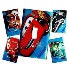 Disney Cars III Light Switch Plate/Outlet Covers by debbieshine, $18.99
