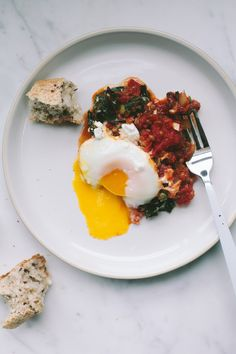 Tomato Poached Eggs / Not without Salt