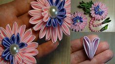 Новый лепесток Канзаши/Цветы Канзаши/The new Petal kanzashi/ Flowers kan...