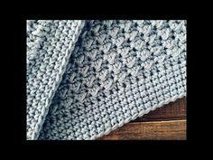 Manta/colcha a crochet, la más fácil ¡Paso a paso! - YouTube Baby Blanket Crochet, Crochet Baby, Knit Crochet, Crochet Stitches, Crochet Patterns, Boy Blankets, 3 D, Embroidery, Knitting