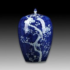 Chinese Blue And White Porcelain Jar - May 2018 Blue Design, White Porcelain, Christmas Bulbs, Auction, Chinese, Blue And White, Jar, Pottery, Asian