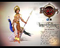 Karthikay by obssydian on DeviantArt Shiva Tandav, Lord Shiva, Lord Murugan Wallpapers, Indian Illustration, Thai Art, Hindu Art, Indian Gods, God Of War, Durga