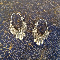 Rosa's Mexican Silver Arracadas Earrings