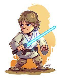 Chibi Luke Skywalker by DerekLaufman.deviantart.com on @DeviantArt