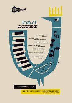 Music Logo Design Illustration Concert Posters 16 New Ideas Design Poster, Book Design, Web Design, Illustration Photo, Graphic Design Illustration, Typography Poster, Graphic Design Typography, Jazz Poster, Music Logo