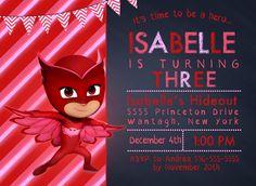 Owlette Invitation FREE Thank You Card File PJ by BirdsNestPaperie