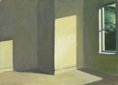 edward hopper(1882–1967), sun in an empty room, 1963. oil on canvas, 73 × 100.3 cm. private collection | HOPPER DRAWING: AUDIO GUIDE STOP FOR EDWARD HOPPER, SUN IN AN EMPTY ROOM, 1963 http://whitney.org/WatchAndListen/AudioGuides?play_id=870