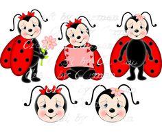 Craft by Carmen by CraftbyCarmen Ladybug Cartoon, Ladybug Art, Clipart, White Teddy Bear, Cute Teddy Bears, Lady Bug, Easy Coloring Pages, Scrapbook Designs, Cartoon Pics
