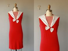 MEMORIAL DAY SALE / 1960s nautical dress / by CustardHeartVintage, $78.00