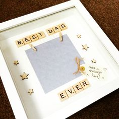 Bet dad ever scrabble photo frame