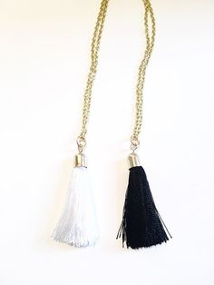 This long tassel necklace is the perfect addition to any outfit! It comes in…