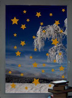 70 Sterne - Sternenschauer - Fenstertattoo Set - ein Designerstück von CatrinKerschl bei DaWanda