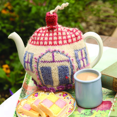 Pop the kettle on and create your own tea cosy knitting pattern!