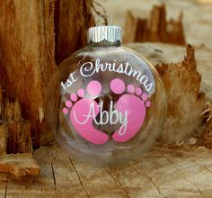 Personalized Baby's first Christmas ornament. Any name/initial/phrase/color combination you would like.