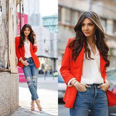 Larisa C. - Orange blazer