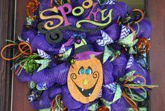 SALE, SALE, SALE!!  Spooky Pumpkin Wreath