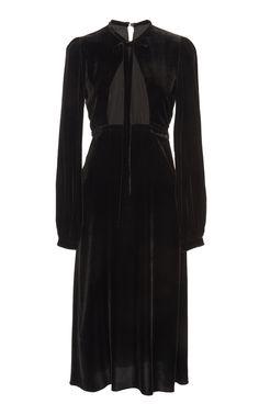 Velvet Midi Dress by ROCHAS for Preorder on Moda Operandi