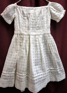 Victorian vintage child's white homemade  dress size 12 -18 mo. #Homemade