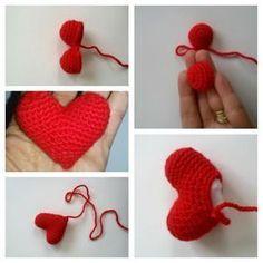 Yaseminkale: amigurumi kalp yapılışı
