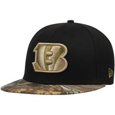 a1377172 Men's Cincinnati Bengals New Era Black/Realtree Camo Rambo 59FIFTY Fitted  Hat, Your Price