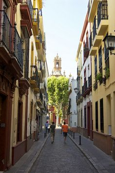 Picturesque street in Seville, Spain