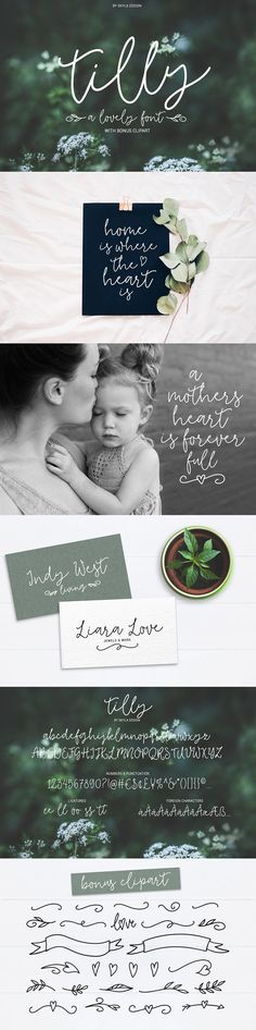 Tilly, a lovely font & bonus clipart by Skyla Design on @creativemarket Handwritten Type, Web Design, Brand Design, Amor Animal, Cute Fonts, Wedding Quotes, Wedding Ideas, Diy Wedding, Painting Quotes
