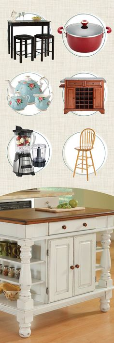 Need additional workspace and storage in your kitchen without undertaking an expensive and lengthy renovation? A portable kitchen island or cart may be your answer. Our kitchen and dining furniture has options for every style, space, and size. Visit Wayfair and sign up today to get access to exclusive deals everyday up to 70% off. Free shipping on all orders over $49.: