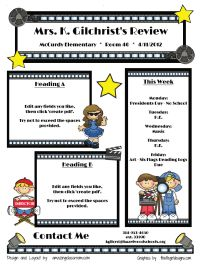 Newsletter Nameplace Templates Great Resources  Classroom