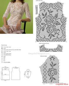Платье в филейной технике!!! (ДОПОЛНИЛА)