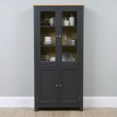 Oakland Glass Display Cabinet - The Cotswold Company Small Dresser, Modern French Country, Dining Room Furniture, China Cabinet, Living Spaces, Art Deco, Display, Storage, Glass Cabinets