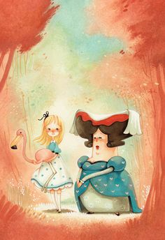 Daniela Volpari - Alice in wonderland Alice In Wonderland Diy, Adventures In Wonderland, Alice In Wonderland Illustrations, Storyboard, Children's Book Illustration, Watercolor Illustration, Kawaii, Alice Madness Returns, Comic Art