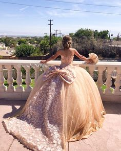 Dress from it's beautiful 😍 Dama Dresses, Quince Dresses, Event Dresses, Sweet 15 Dresses, Pretty Dresses, Bella Wedding Dress, Mexican Quinceanera Dresses, Look Fashion, Fashion Outfits