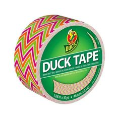 Zig Zag Duck Tape 10YDS ($3.39) ❤ liked on Polyvore featuring home and home improvement