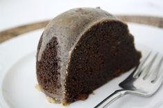 Kahlua bundt-cake - mom makes a similar one. She swaps the glaze for powdered sugar and a fudge cake mix instead of a yellow one. If it's for me, she adds chocolate chips and walnuts.