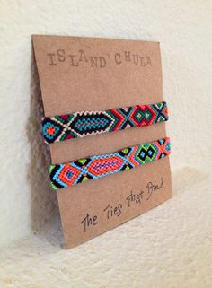 Friendship bracelet set/BFF/Couple/Best friend by IslandChula, $18.50