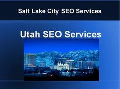 It's a very short presentation of high quality SEO services available for Salt Lake City, Utah. White Hat Seo, Local Seo Services, Salt Lake City, Utah