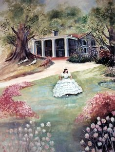 """""""Gone With the Wind"""" watercolor."""