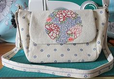 Handmade Handbag Ramie Cotton Embroidery Flower Sling Bag 1646 * For more information, visit image link.-It is an affiliate link to Amazon.