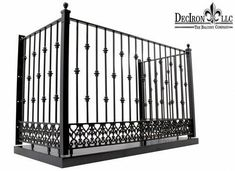 Alternate Knuckle wrought iron balcony with Greco-Romanesque design. Cast iron band at the bottom.​True Balcony, includes platform and its bottom cover.