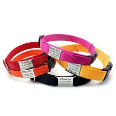 Personalized Nylon Dog Collars by Laserpets