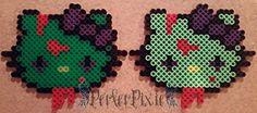 Dark & Light Zombie Hello Kitty Heads by PerlerPixie on DeviantArt