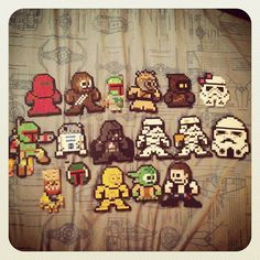"""""""Star Wars Perler Bead Collection by ~Sentinel2656 on deviantART"""" - Oh, or maybe a couple of THESE ones?! amazing. @Erica Rogers"""