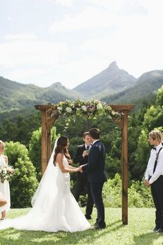 simple wedding arch via Joseph Willis / http://www.himisspuff.com/wedding-arches-wedding-canopies/2/