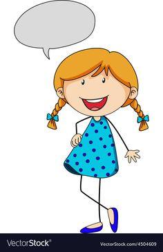 Girl thinking vector image on VectorStock