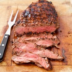 Mom's Pan-fried London Broil Steak -- cooked in cast-iron ...